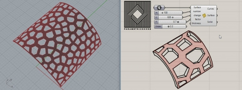 easily produce Voronoi cells on any NURBS surface
