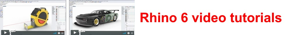 Rhino 6 video tutorials