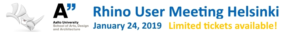 Rhino User Meeting Helsinki 2019