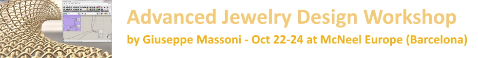 Advanced Jewelry Design workshop in Barcelona