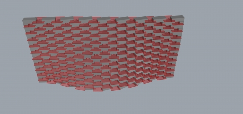 Parabrick is a grasshopper definition used for designing parametric brick walls.