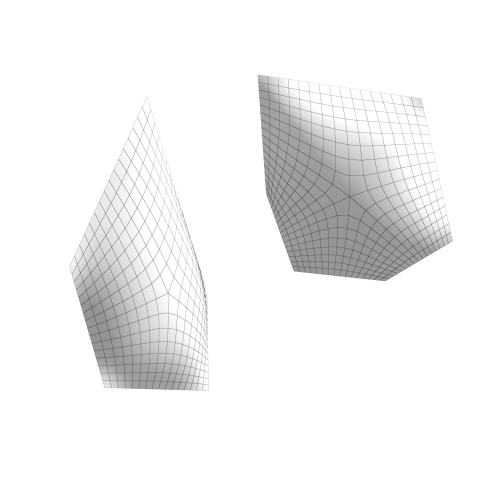The grasshopper script to generate the ETFE membrane from planar surfaces. (Adjustable)