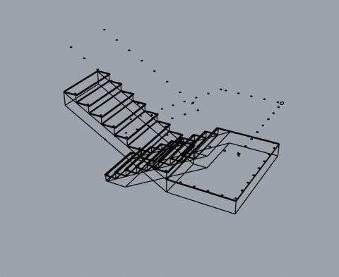 Parametric 2 hand stairs with 12 parametric value such as (height,tread,thickness,....)