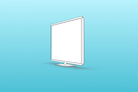 """Parametric TV. The support can be removed. Screen dimensions are choosen in inches (22"""", 24"""", 28"""", 32""""...)"""