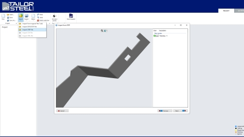 """Thicken and add bends to 3d sheet metal """"sketch"""" and export step file"""