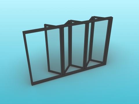 Parametric multi-leaf bi-folding door and window.