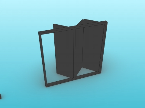 Parametric multi-leaf bi-folding door.