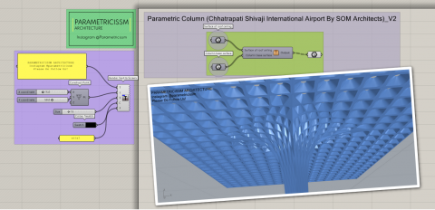 This definition helps you to model the Parametric Column of Chhatrapati Shivaji Maharaj International Airport, Mumbai by SOM Architects.