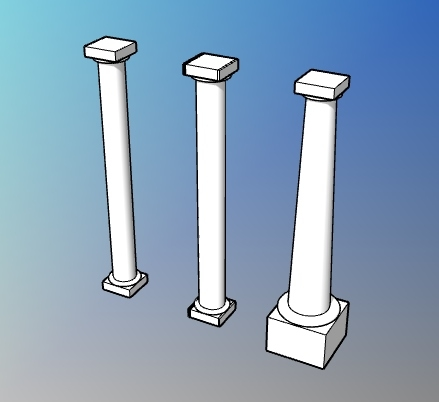 Parametric smooth doric column style for VisualARQ