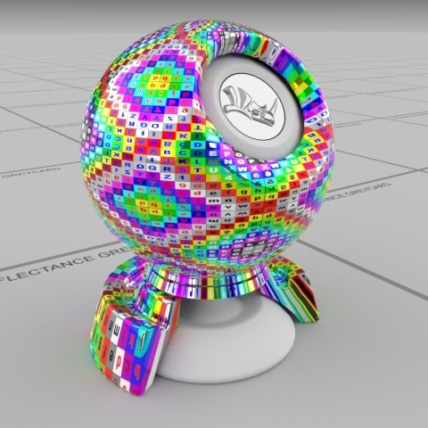 Texturing material useful for uv mapping