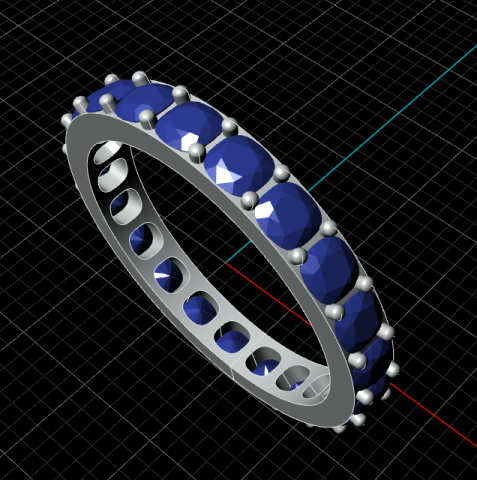 Definition for building eternity rings