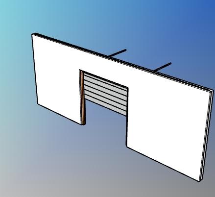 Parametric garage flush panel door style for VisualARQ