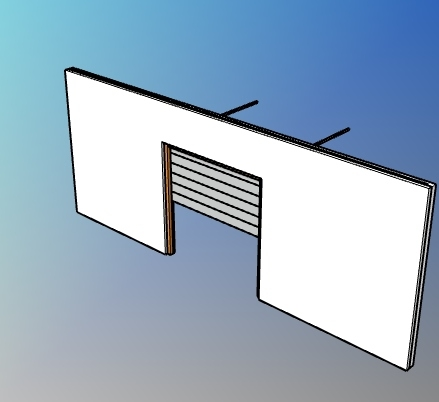 Parametric garage flush panel door style for VisualARQ