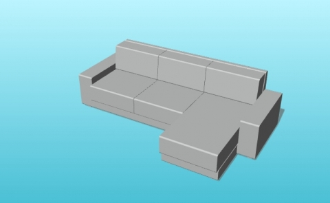 Parametric Kivik Sofa with Chaise Longue from IKEA for VisualARQ