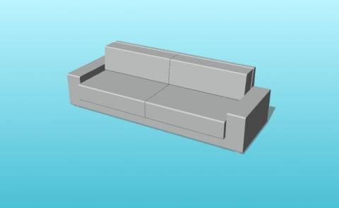 Parametric Kivik Sofa from IKEA for VisualARQ