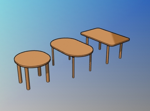 Parametric oval dining table style for VisualARQ
