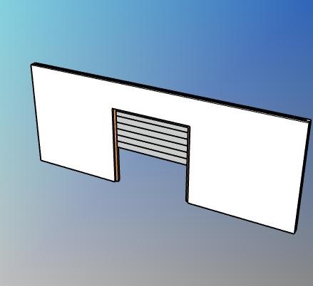 Parametric overhead rolling door style for VisualARQ