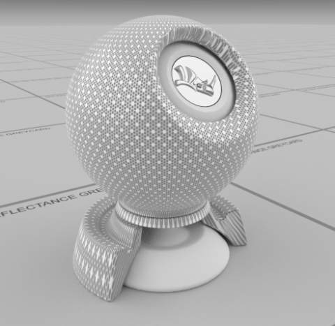 physically based - hexagon mesh
