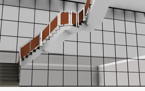 Railing with cutting parametric sheet motifs among others ...