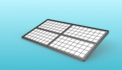 Parametric roof solar panels mounting for VisualARQ.