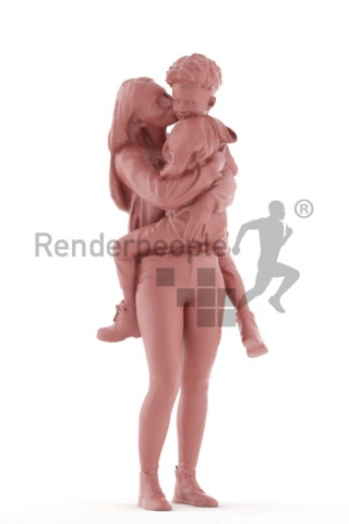 Convince yourself of the high quality and quick and easy workflow of Renderpeople products.  Download our free 3D model of Fabienne & Percy