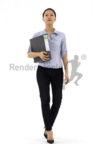 Convince yourself of the high quality and quick and easy workflow of Renderpeople products.  Download our free 3D model of Mei for Rhino + V-Ray
