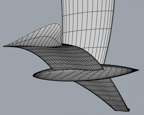 New and unique mathematical model for parametric design of airfoils and 3D geometric objects such as wings, fins, bulbs, hydrofoils