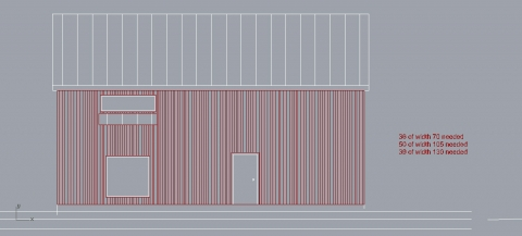 A quick definition to visualize mixed width wood paneling
