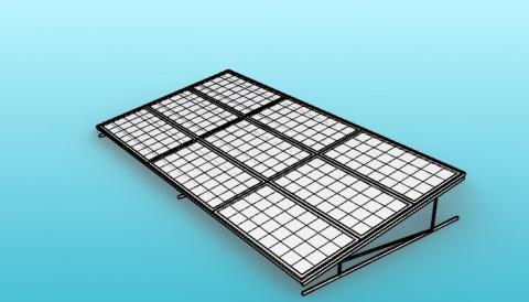 Parametric static solar panels mounting for VisualARQ.