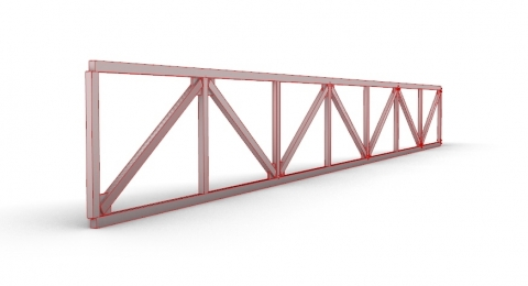 Truss created with VisualARQ Beam objects.