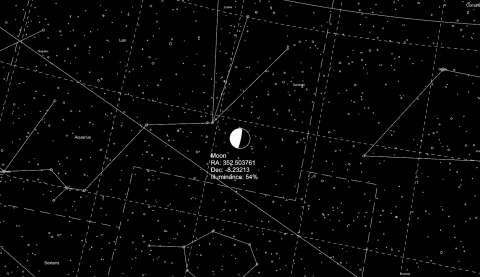 Planetarium plugin for simulating the night sky for any given time and location.