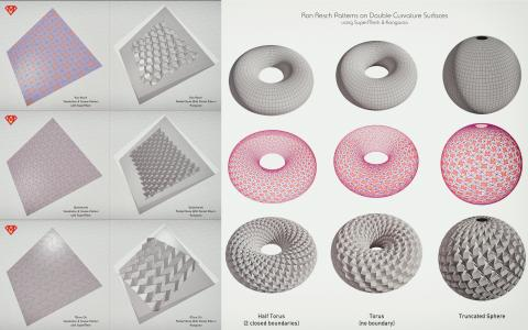 Toolkit for easy pattern-making on NURBS Surfaces, via their conversion to special Mesh-like objects, topologically structured in rows and columns.