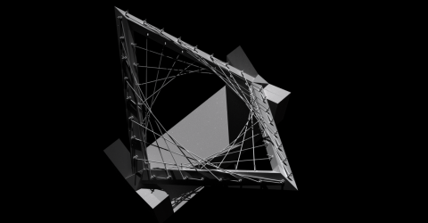A robotic weaving research outcome that generates paths of loops and knots within a set of trajectorial input points.