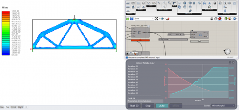 Ameba is a topology optimization tool based on the BESO method,which provides optimization for 2D and 3D geometrical models.