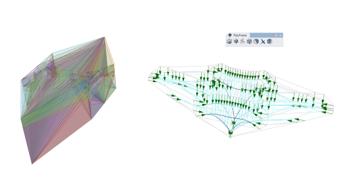 Structural form-finding and analysis for Rhino using 3d graphic statics and reciprocal polyhedrons.