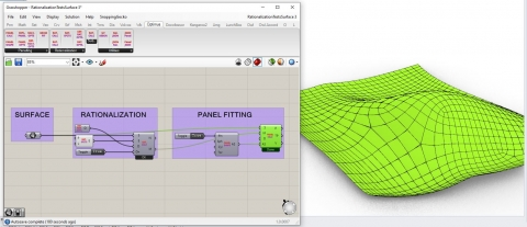 Improve conceptual design process by getting rationalized q-meshes and panels on free-form surfaces in seconds