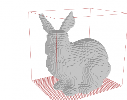 Lightweight voxel geometry and boolean voxel operations for grasshopper