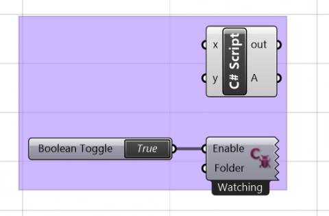 Allows editting of Grasshopper C# scripts in external editors