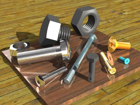 Create accurate Metric and English Bolts and Nuts in Rhinoceros