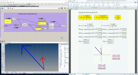 Macaw is a plug-in for grasshopper to allow interoperability with the mathematical calculation and documentation software Mathcad.