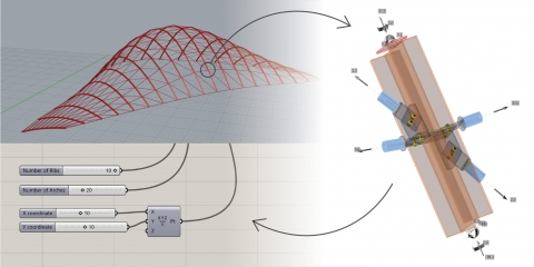 Grasshopper plug-in for exporting a steel joint created in Karamba3d to IDEA Statica Connection.