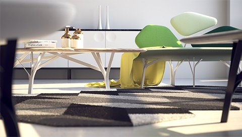 Render high-resolution, photorealistic images with realistic lights, materials and cameras directly in Rhino.