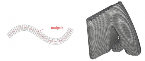 Simulation of 3D concrete printing