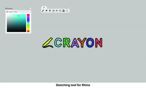Sketching tool for Rhino.