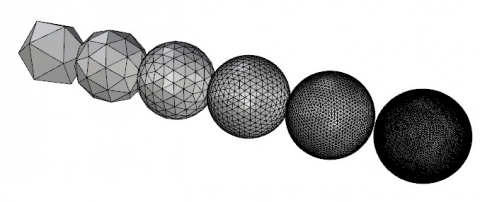 The IcoSphere plug-in for allow you to create a mesh IcoSphere, a refined Icosahedron.