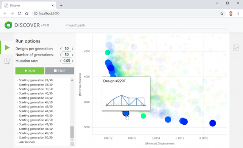 Discover is a set of components for connecting Grasshopper models to the Discover optimization platform.
