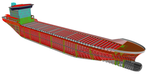 Parametric modeling tool for marine structures - efficient modeling to calculate weight and center of gravity - Now with link to ShipConstructor!