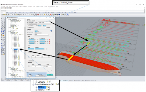 Parametric modeling tool for marine structures - efficient modeling to calculate weight and center of gravity