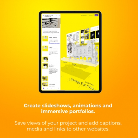 Free web publishing for Rhino. Create design reviews, tutorials, pinups, AR experiences and exhibitions in collaborative online studio spaces.