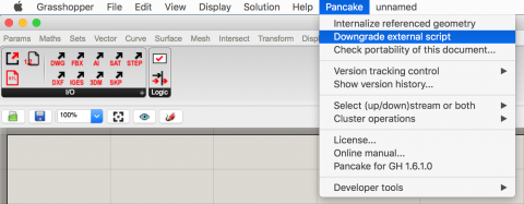 Pancake helps with smoother data exchange and fine-tuning Grasshopper